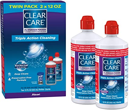 clear care contact lens solutions